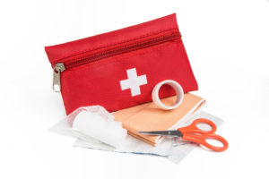 First aid kit to pack for a road trip
