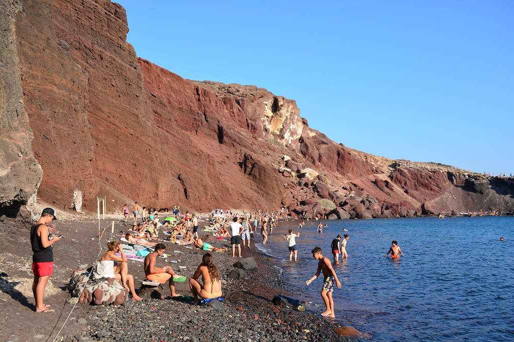 red beach a nude beach in greece