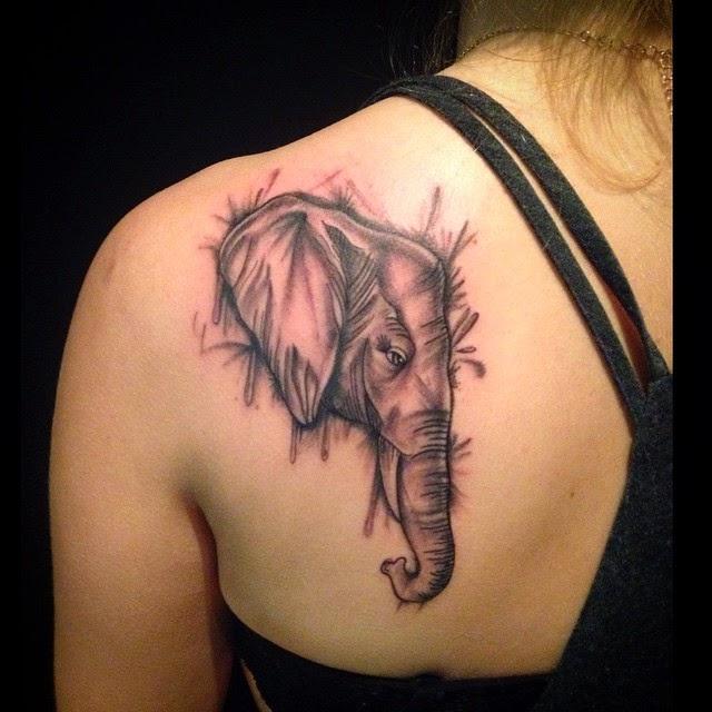 elephant dreamcatcher tattoo