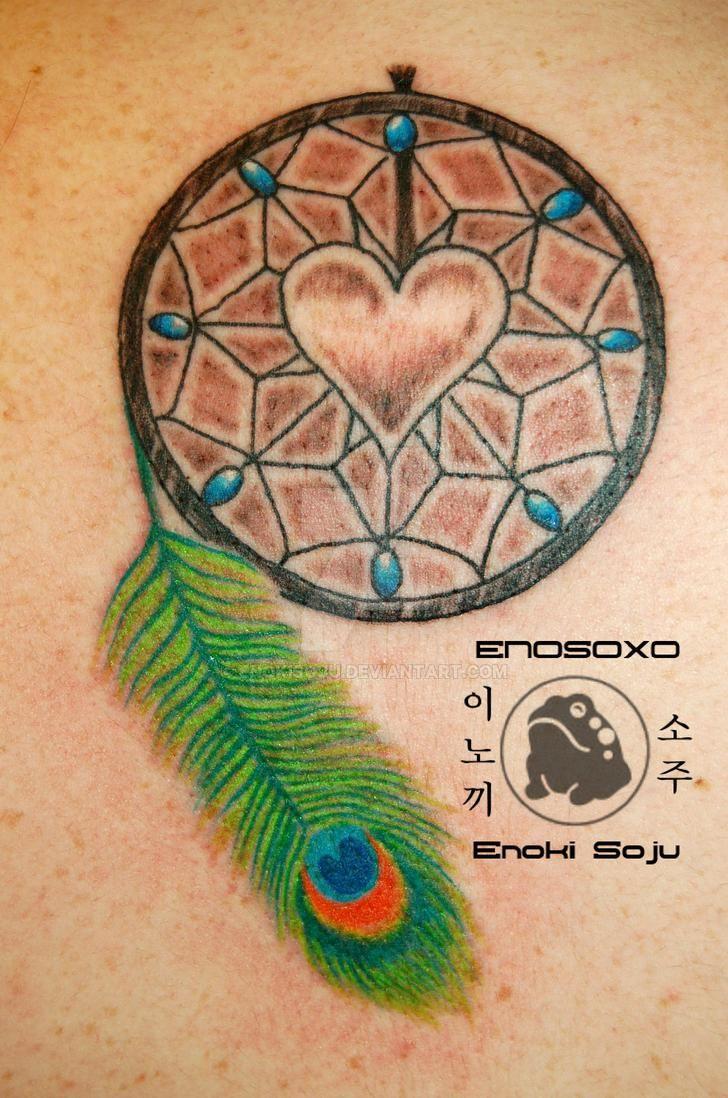 traditional Design dreamcatcher tattoo