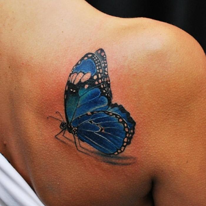 Blue Butterfly tattoo